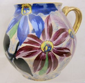 Carlton Ware Handcraft 'Clematis' Large Jug/Pitcher - 1930s - SOLD